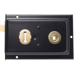 "Sterling Rim Lock Black 6"" x 4"""