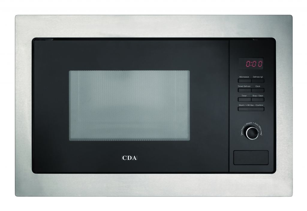 CDA Built In Stainless Steel Microwave - 900w