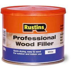 Rustins Professional Wood Filler White 500g